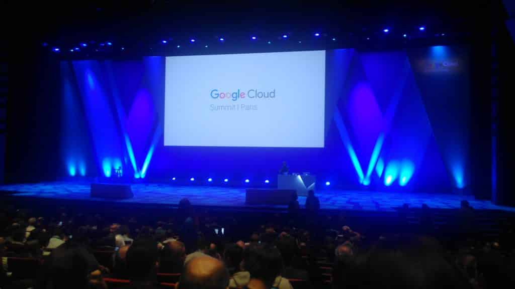 Paris 2017 Google Cloud Summit blue screen
