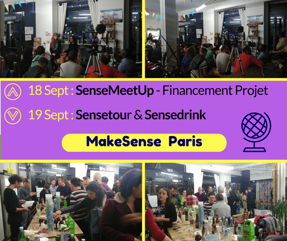 MakeSense Sensetour and Sensedrink Paris